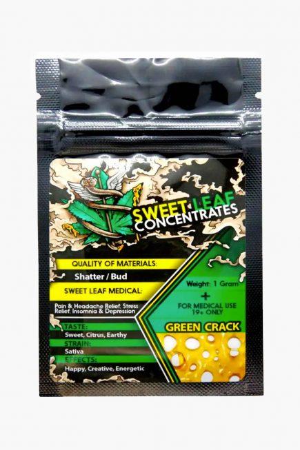 Sweet Leaf Concentrates Green Crack Shatter 1g
