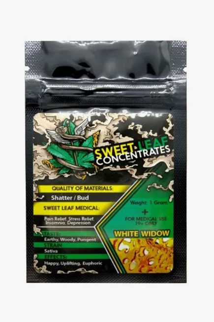 Sweet Leaf Concentrates 1g Shatter White Widow