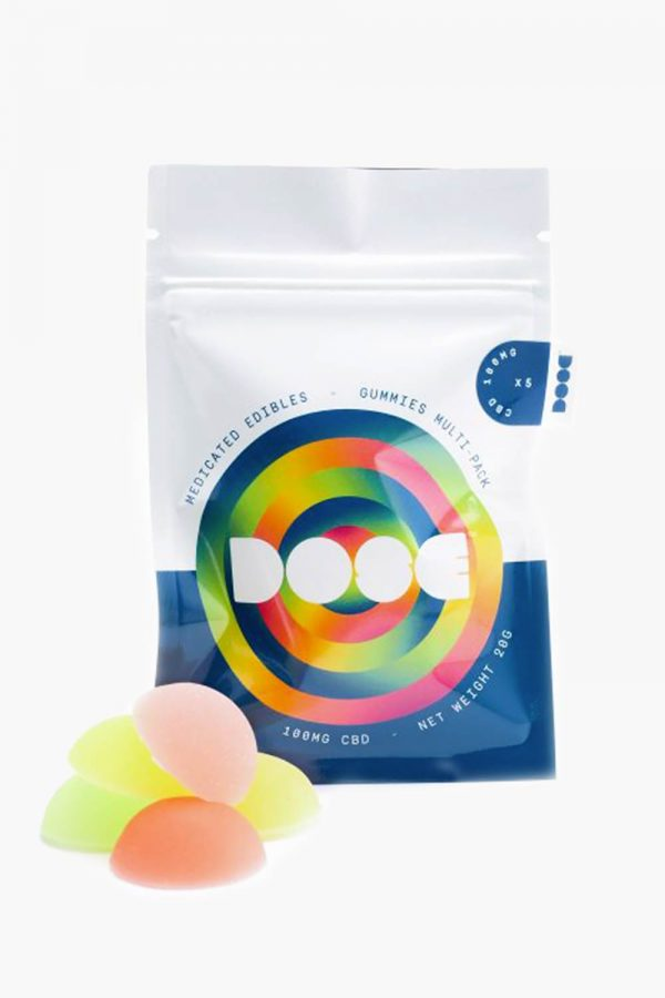 Dose Medicated Gummies Multi Pack 100mg CBD