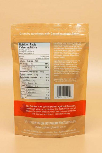 Tasty Buds Canadian Maple Crunch 28g 2