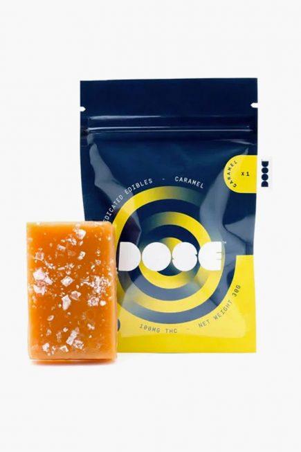 Dose Caramel Medicated Gummies 100mg THC
