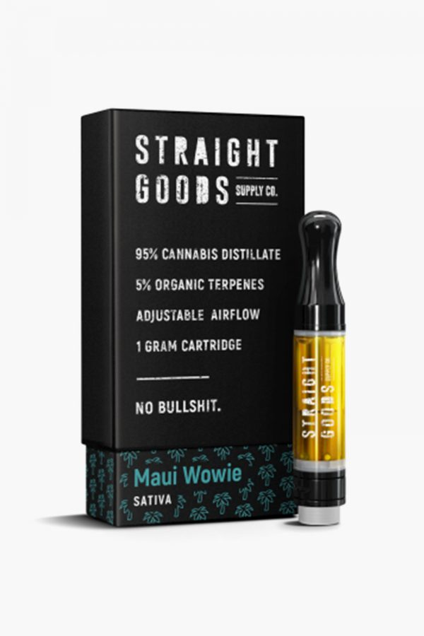 Straight Goods Vape Cartridge Sativa Maui Wowie