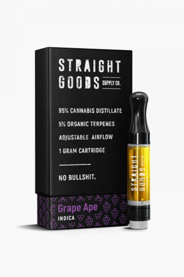 Straight Goods Vape Cartridge Indica Grape Ape