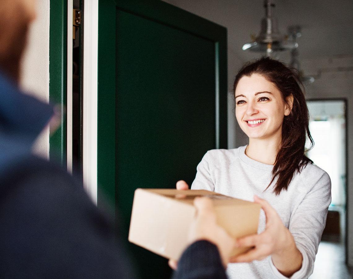 Woman Receiving Her WeedHub Package