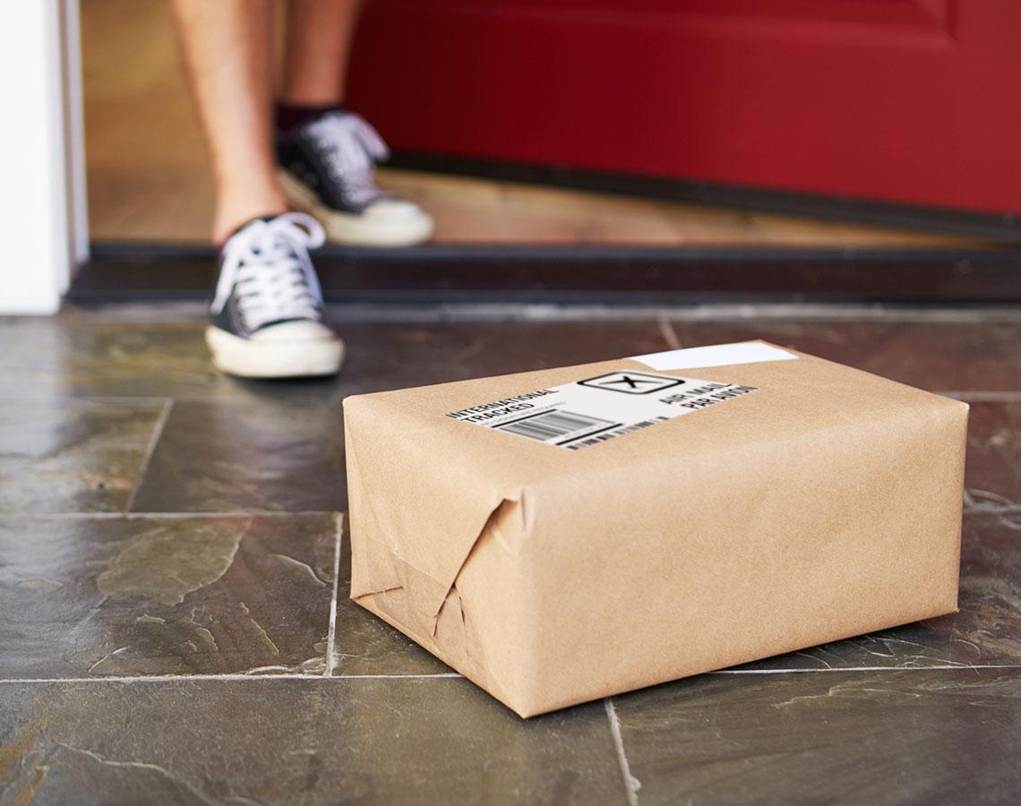 WeedHub Package Sitting At Door Step